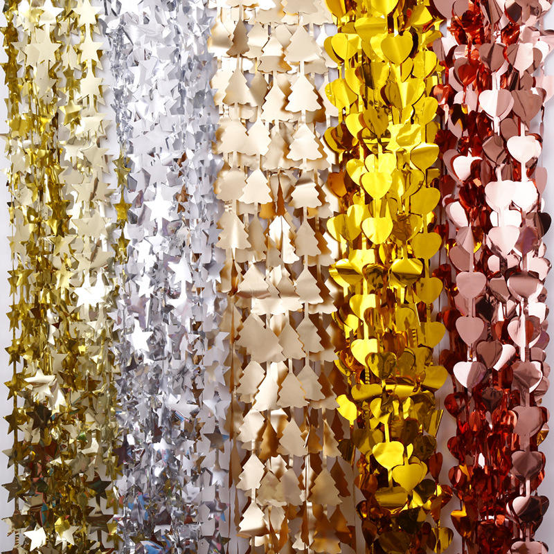 The popular Backdrop Shimmering Foil Curtain for wedding decoration door decoration