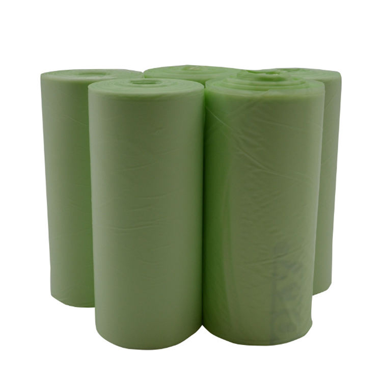 Eco friendly 100% biodegradable Corn starch Compostable plastic garbage bag on roll