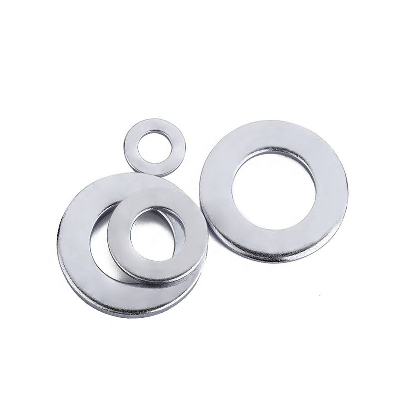 DIN125 zinc galvanized wholesale small round metal steel flat washer grower fender plain washers shim