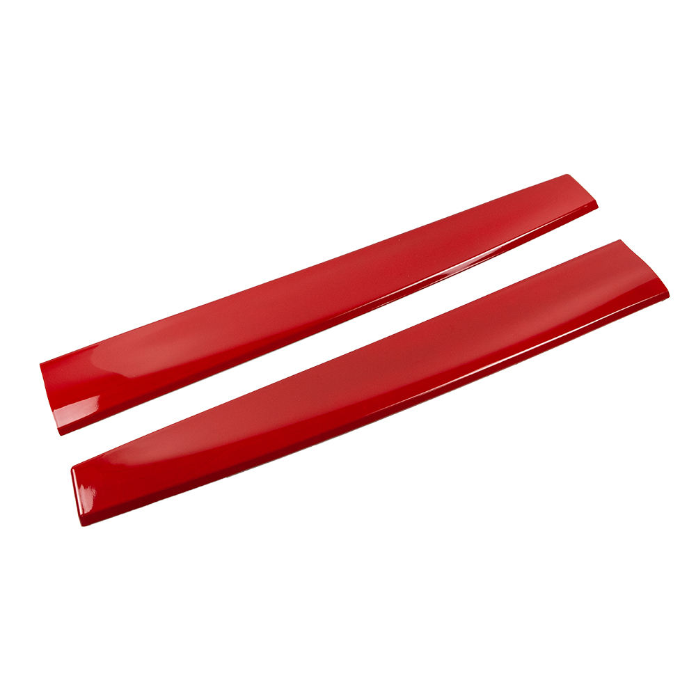 2pcs ABS Gloss Red Car Dashboard Pannello Console Wrap Striscia Sticker Trim per Tesla Modello 3