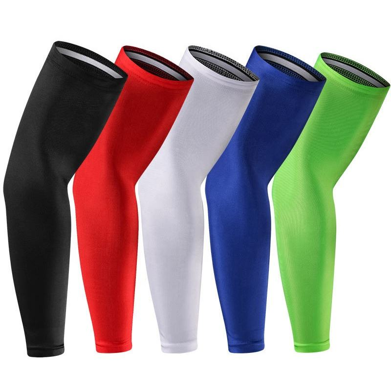 Spandex Elastic Silicone Leg Knee Long Sleeves for Sport Football
