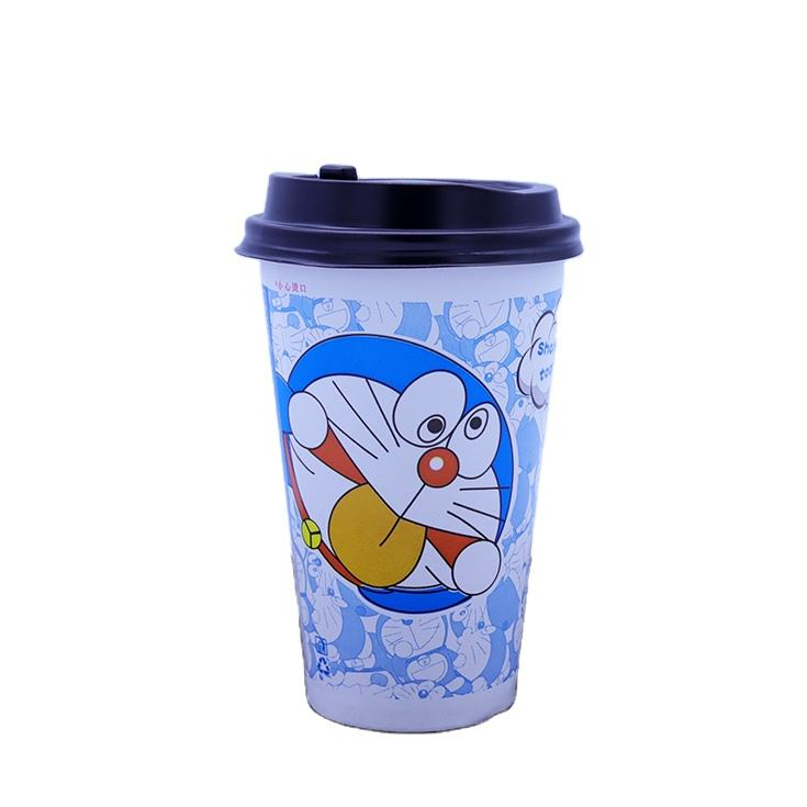 Take Away Cups and Lids_Double Wall Coffee Paper Cups Vending_16 oz Disposable Coffee Cups