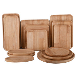 Food Grade Wood Round Snack Nut Fruit Plate