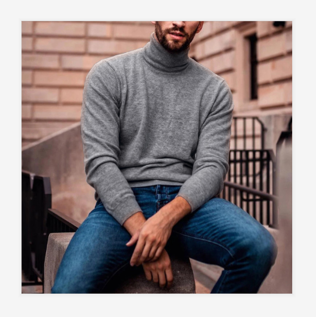 Men's cashmere turtle neck
