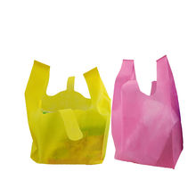 Promotional PP Non-woven Vest Bag, Colorful PP Nonwoven T-shirt carry Bag for Shopping