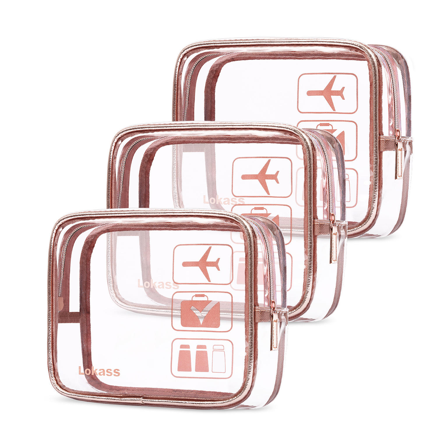 Customized logo PVC zip beauty case travel OEM cosmetic clear makeup bags transparent cosmetic bag travel