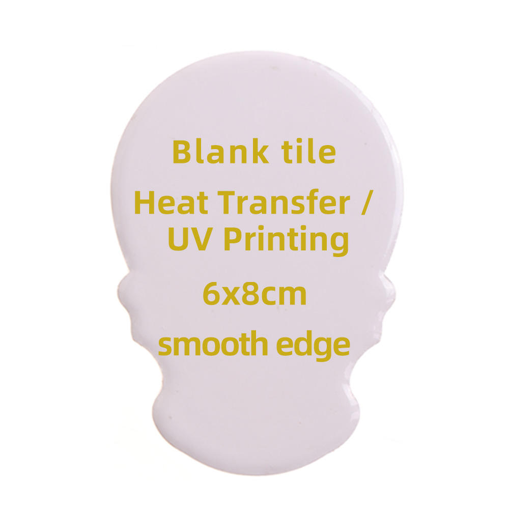 Special shape blank fridge magnet sublimation coating for ceramic tile