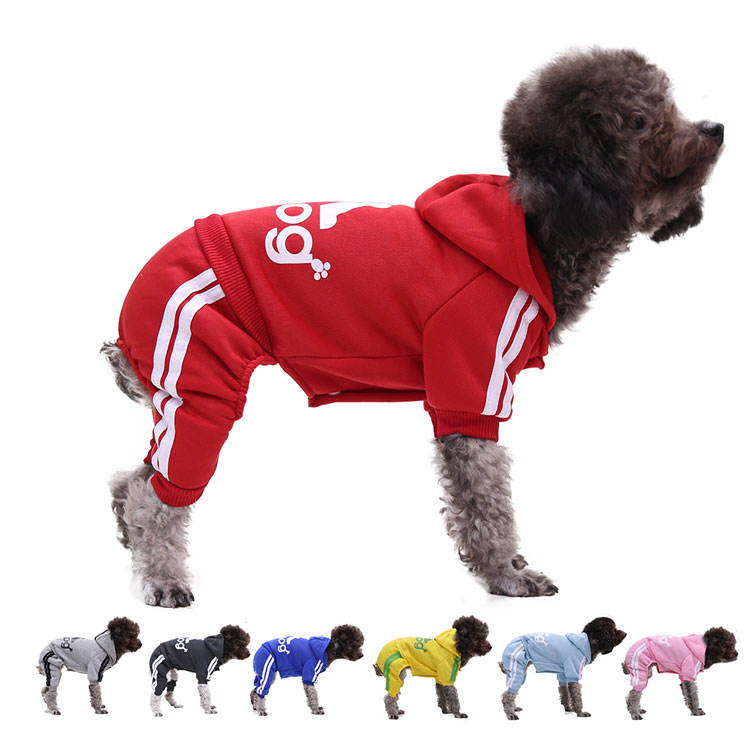 Winter Puppy ADI Sport Hoodie Four Legs Pet Dog For Dog Cat Sweater Button Hoodie clothes Supplies