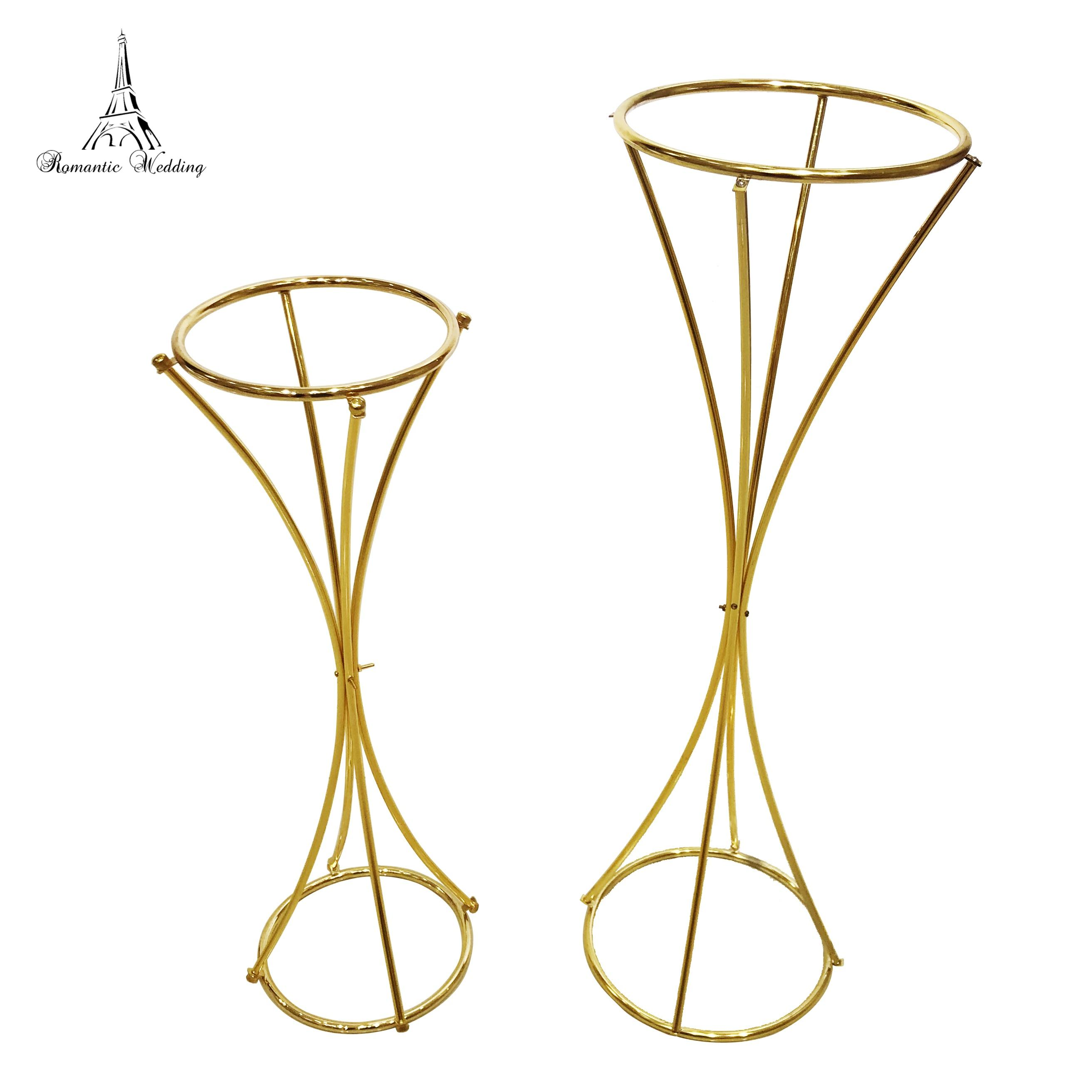 10PCS/lot Gold Metal Flower Stand Special style wedding table centerpiece for Wedding Party Event Centerpieces