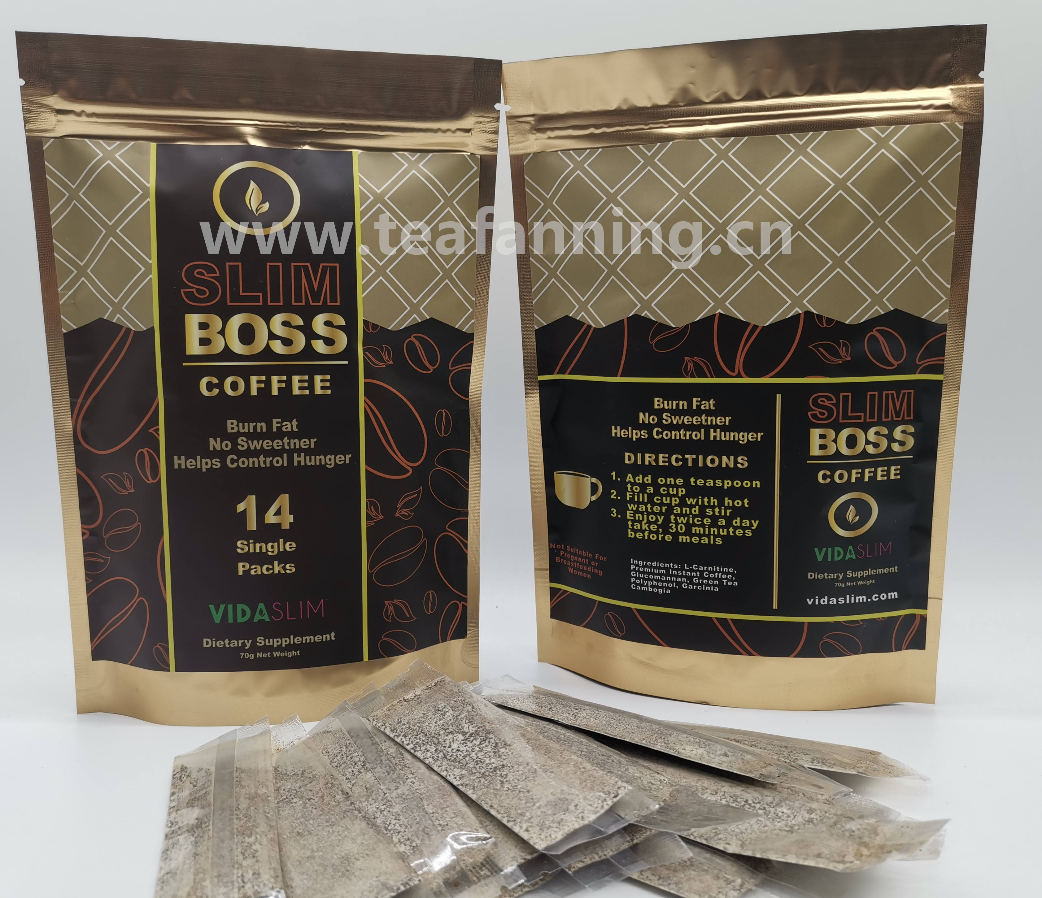 Instant Coffee slimming, Instant detox coffee with customized gift package