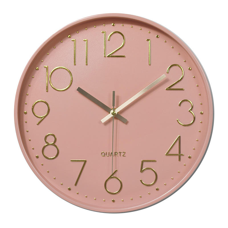 12inch 30CM cute pink colorful clock