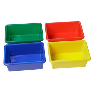 Stackable Small Cubby Sorting Boxes Durable Classroom Storage Containers Children Kids Toy Storage Plastic Colorful Bins Boxes