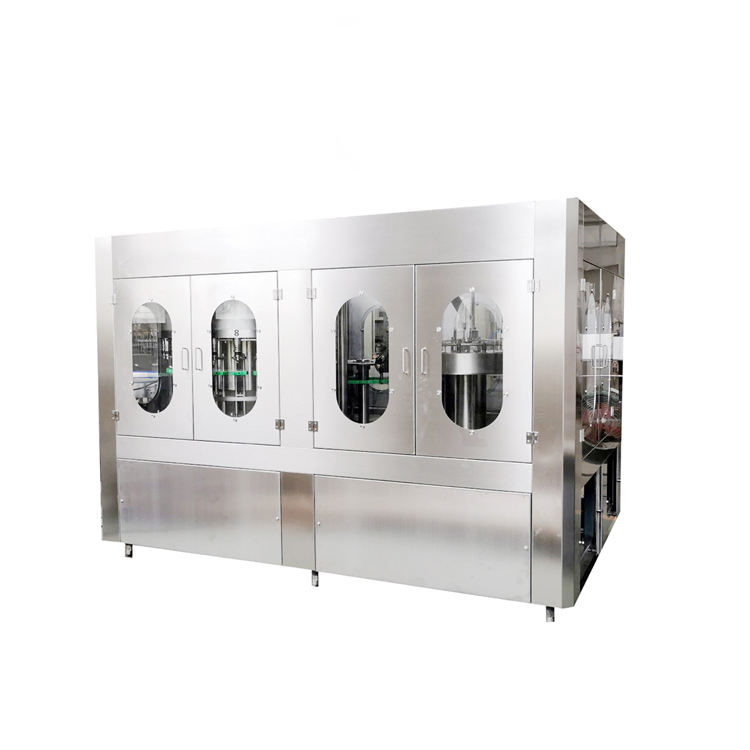 Small Carbonated Sparkling Soda Water Production Line With Soft Drink Bottle Cola Filling Machine