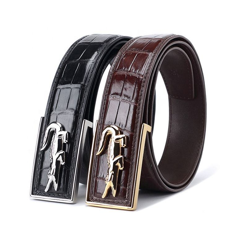 HS Jewelry New design real crocodile skin leather belt for men