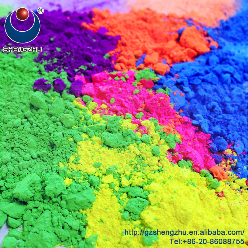 Wholesale UV Reactive Neon Glow Pigments, Fluorescent Powder for Painting