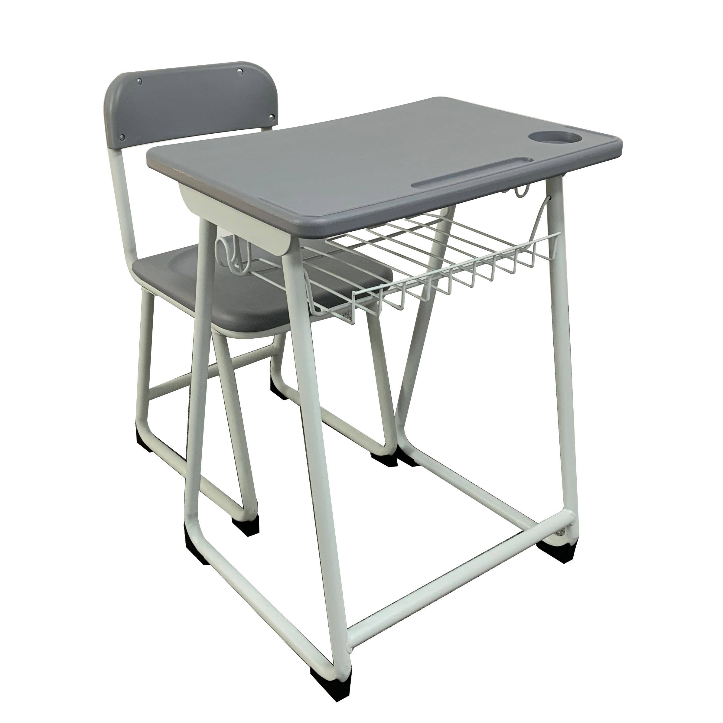modern school student shelf desk and chair set metal student furniture