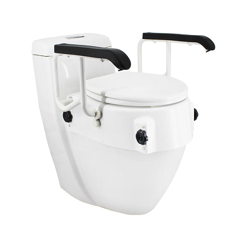 Height adjustable Raised Toilet Seat with flip up armrest Bathroom Safety commode Seat Riser Elevated toilet stool MK05008