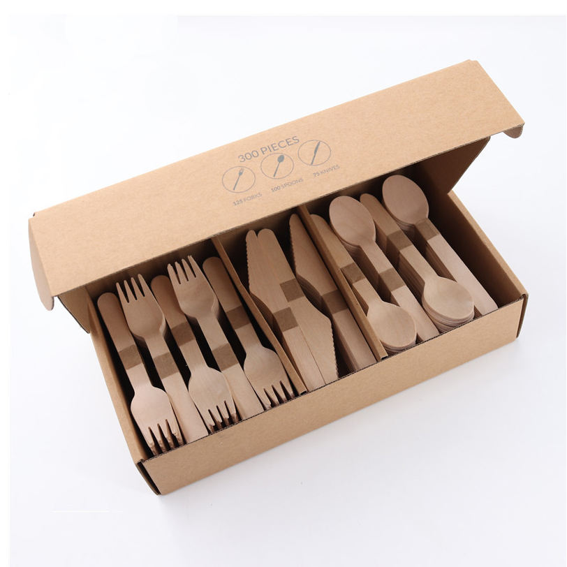 Excellent Quality Disposable Wooden Party Cutlery Biodegradable Food Fork