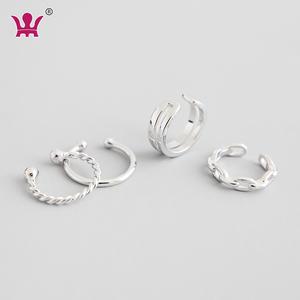 Wholesale Single Piece Hot Sale 925 Sterling Silver Clip Earrings For Women