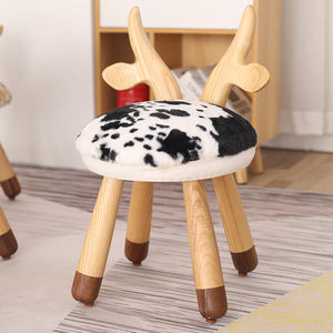 Wholesale high quality custom children stool cute deer wood kids chairs