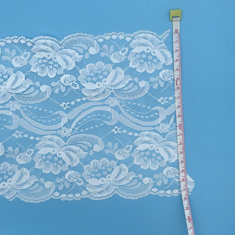 Wide Crochet Lace with scallop edge crochet lace Polyester Cotton Lace Trim for Garments trims