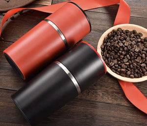 Portable Coffee maker red and black colors grinder hand coffee machine