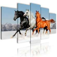 Drop Shipping Art Wall Frame Customized DIY Prints Custom Made Canvas Picture Modular Home Decor 5 Panel Canvas painting