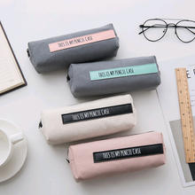 Colorful Pencil Case for School Letter PencilCase Mesh Pencil Bag Small Pen Box School Supplies Stationery Gifts
