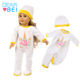 Cartoon Animal 18 Inch American Girl Doll Clothes American Girl Hat + Jumpsuit Doll clothes Set