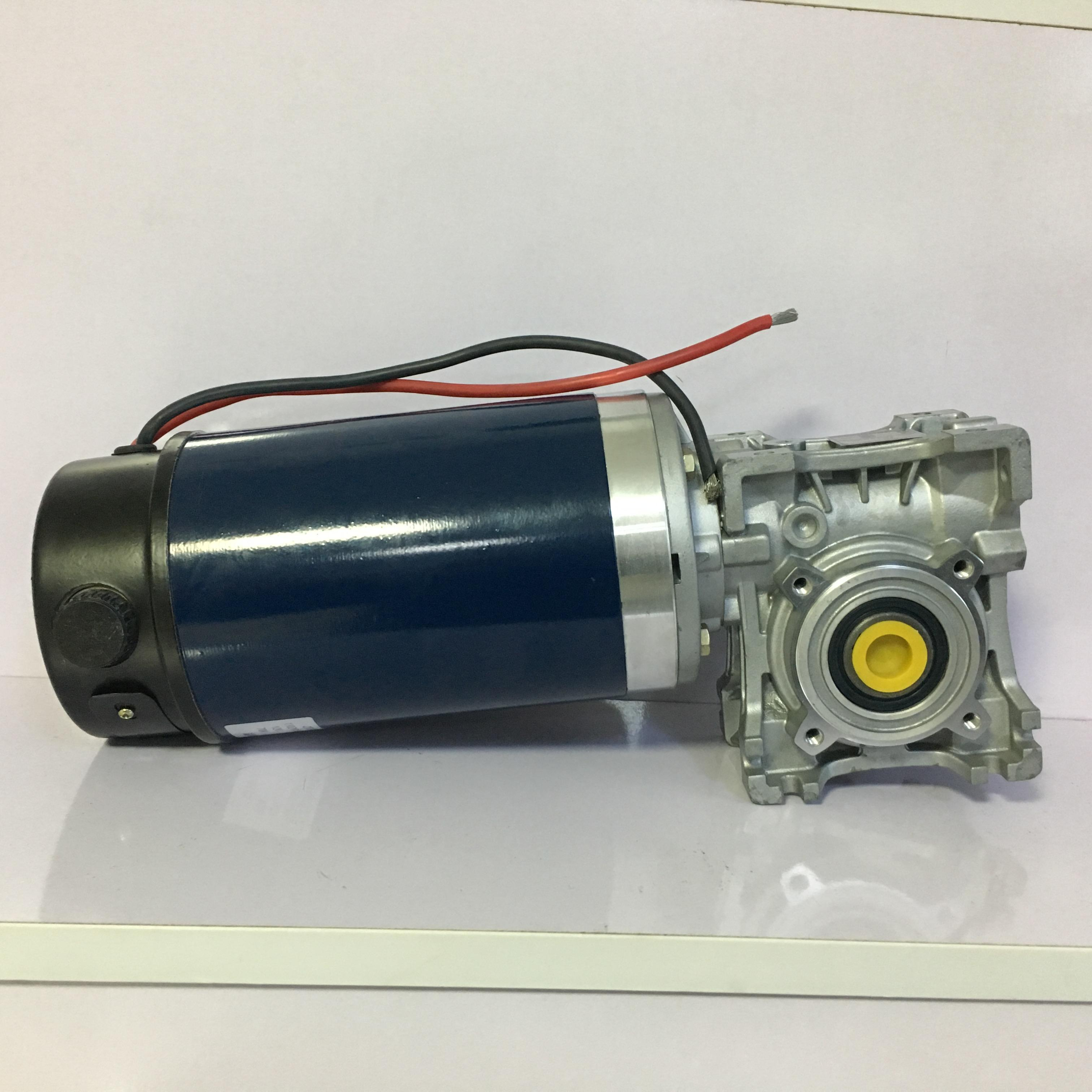 Factory wholesale 110mm 12V 24V 48V 230W 400W 700W electric right angle dc worm gear reduction motor with encoder