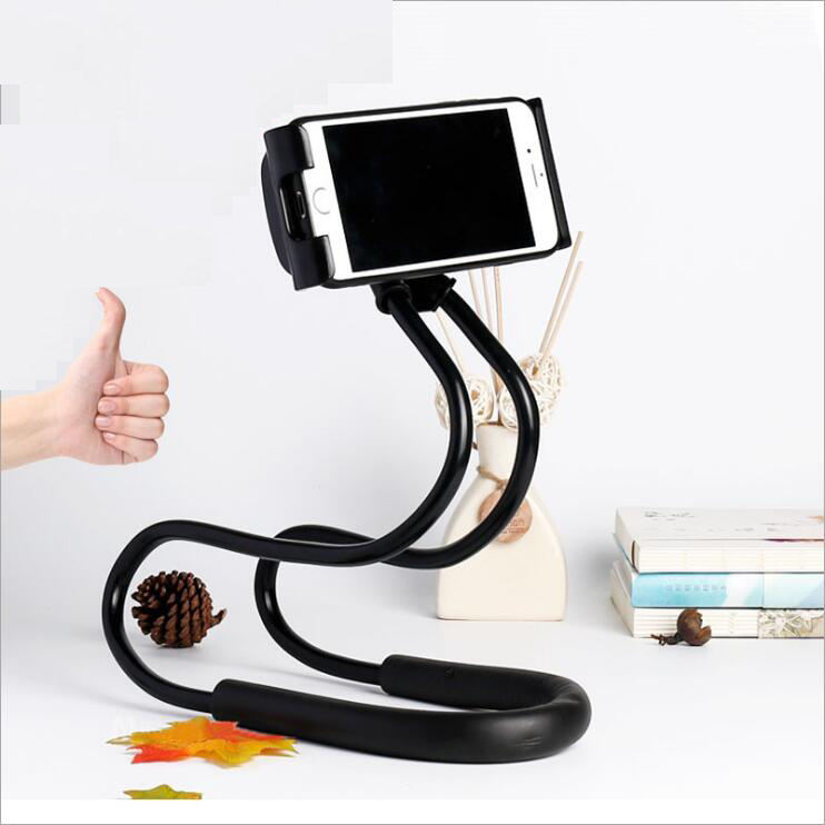 New Product Lazy Hangs Neck Mobile Phone Bracket 360 Flexible Mobile Phone Holder Car Phone Holder With Multiple Function
