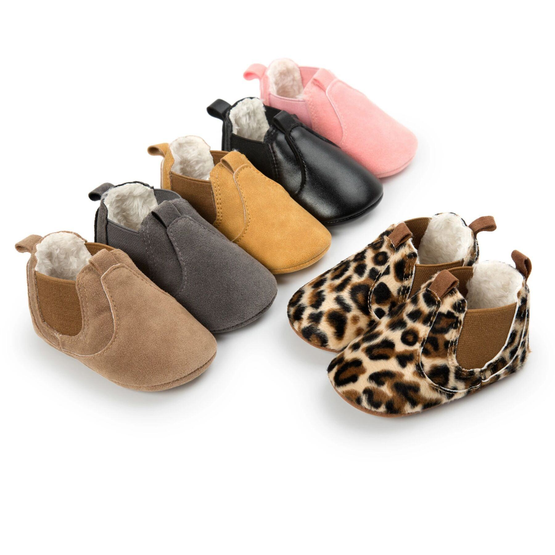 Winter Fashion Toddler Warm Baby Chelsea Boots Brown Boy Infant Booties