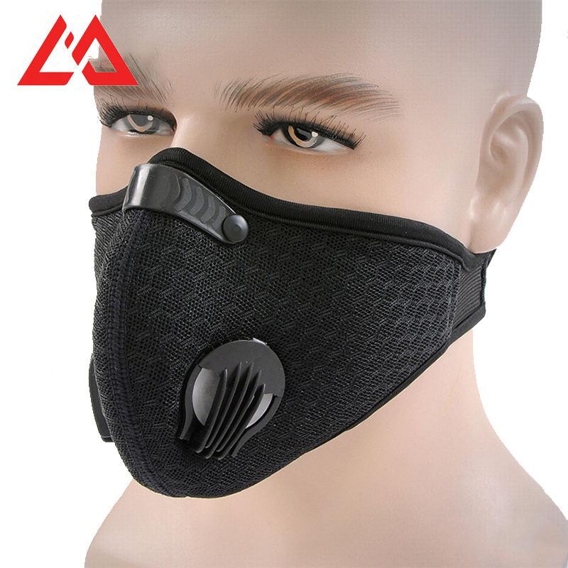 Preto anti neblina boca treinamento de carvão ativado n95 máscaras