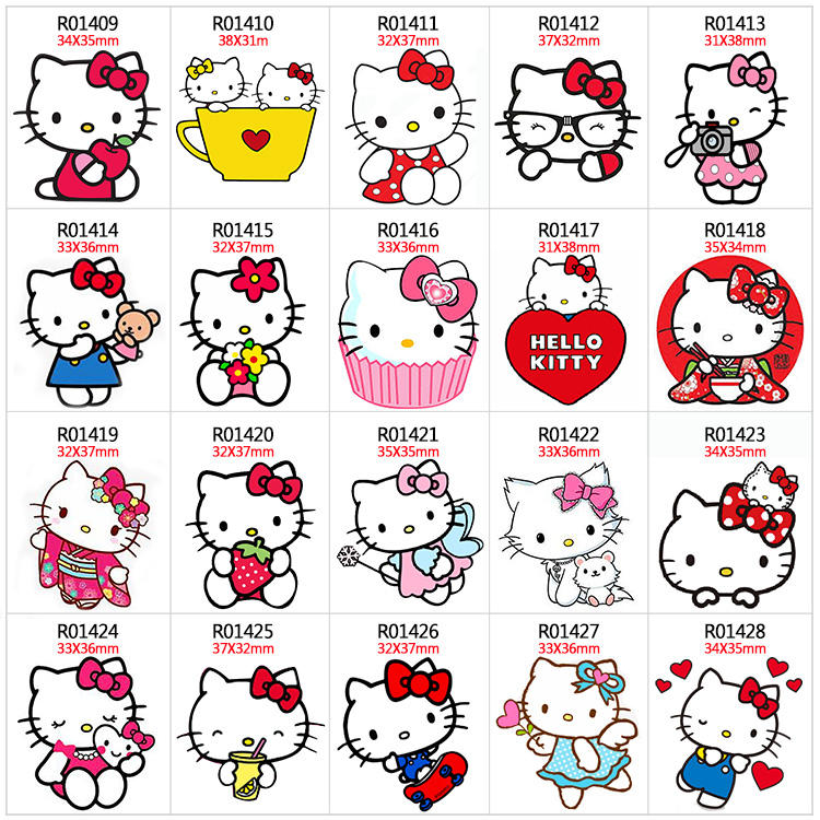 50Pcs <span class=keywords><strong>Hello</strong></span> <span class=keywords><strong>Kitty</strong></span> Planar Resin Pipih Festival Pesta Seri Damar Tema Pesta untuk Kerajinan
