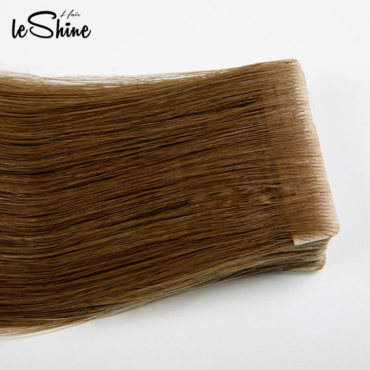 LeShine Double Drawn Russian Tape in Hair Extensions Wholesale Remy Cuticle Human Invisible Skin Weft Injected By Hand