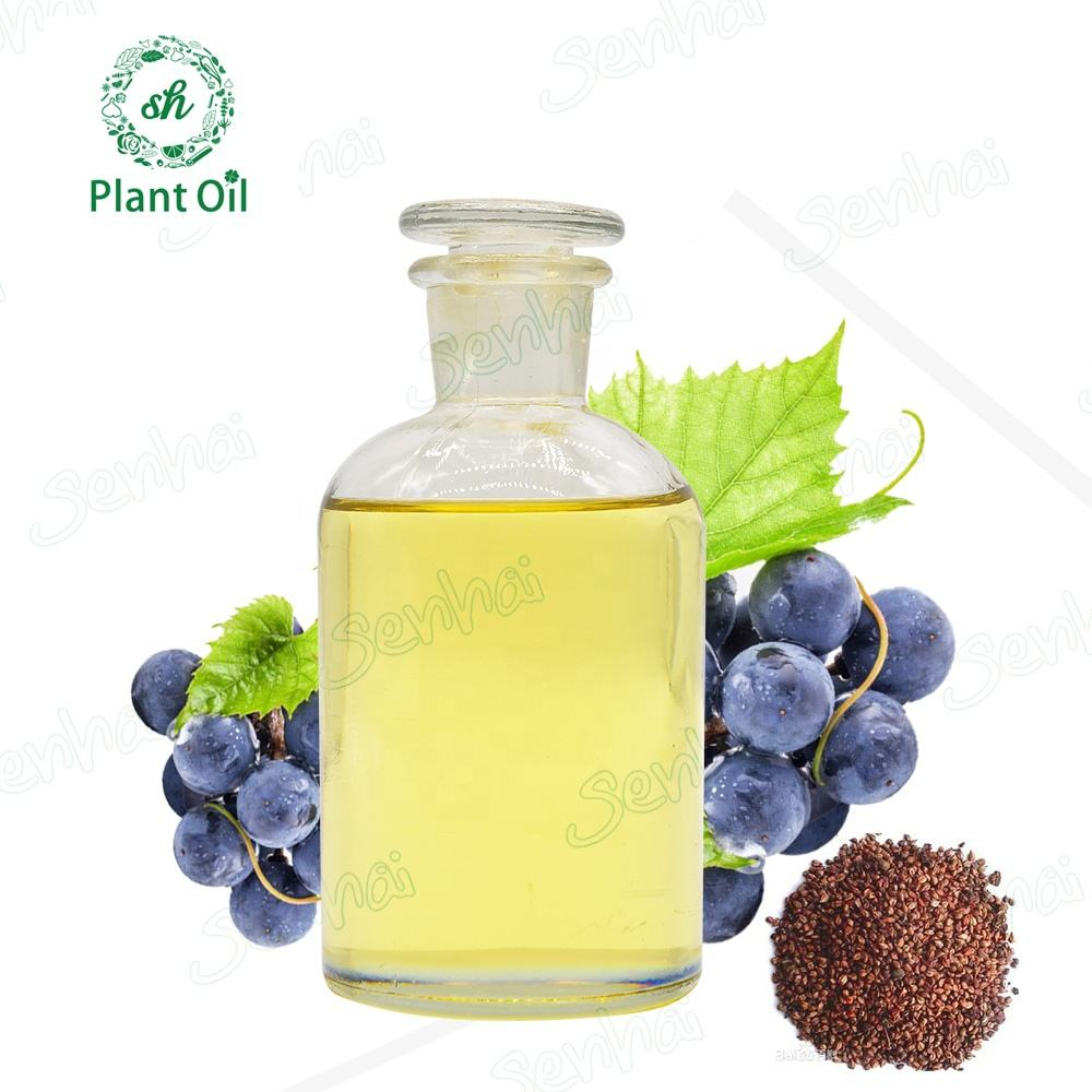 pure natural organic cold pressed extra virgin carrier oil grape seed oil for hair care