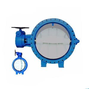 D341H Bi-directional Seal double flanged metal metal seal butterfly valve