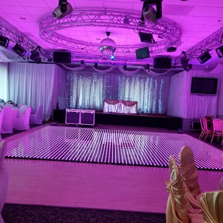 Buy wireless diy dancing disco dj lights pista de led digital black dance floor covering panels hire