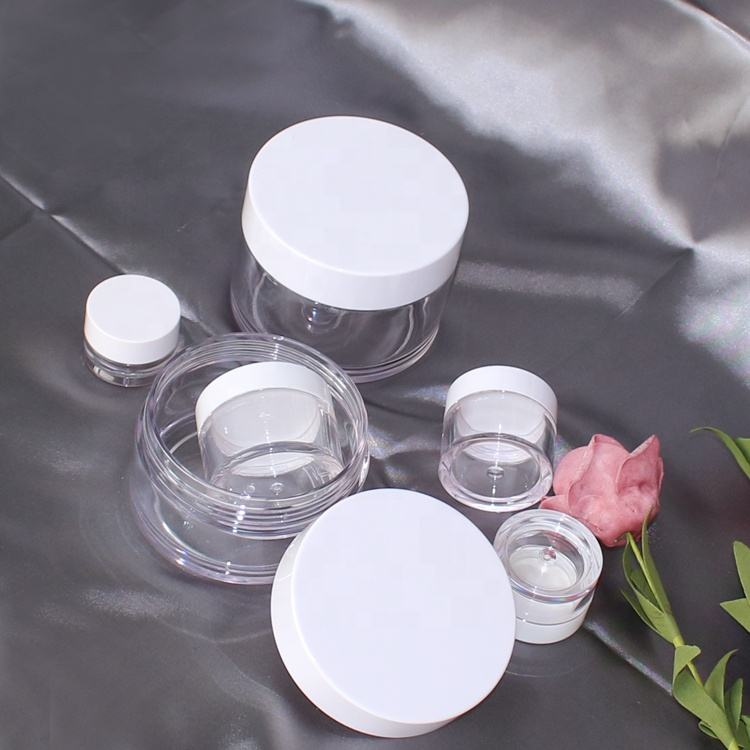 PETG eye gel pot 5g cosmetic powder jar clear plastic cream container 10g 15g 30g 50g 100g 150g