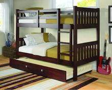 triple bunk bed Twin  Full Twin double over double Bunk Beds for Kids adult with Ladder and trundle