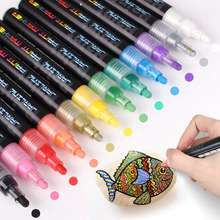 Acrylic Paint Markers Set, 28 Colors Paint Pens for Rock Painting, Stone, Metal, Glass, Ceramic and Any Surface