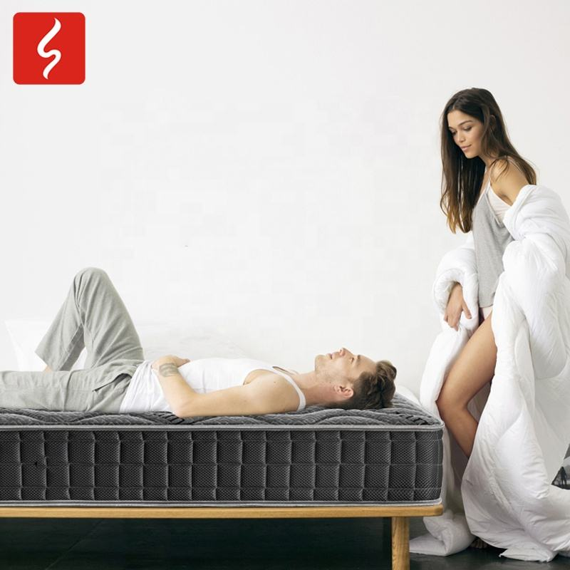 Bamboo sleeping orthopedic Anti-mite pocket spring latex foam mattress wholesale suppliers