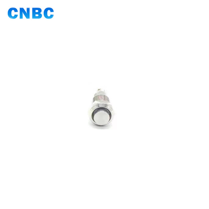 8mm mini illuminated momentary led metal push button switch with 4pins