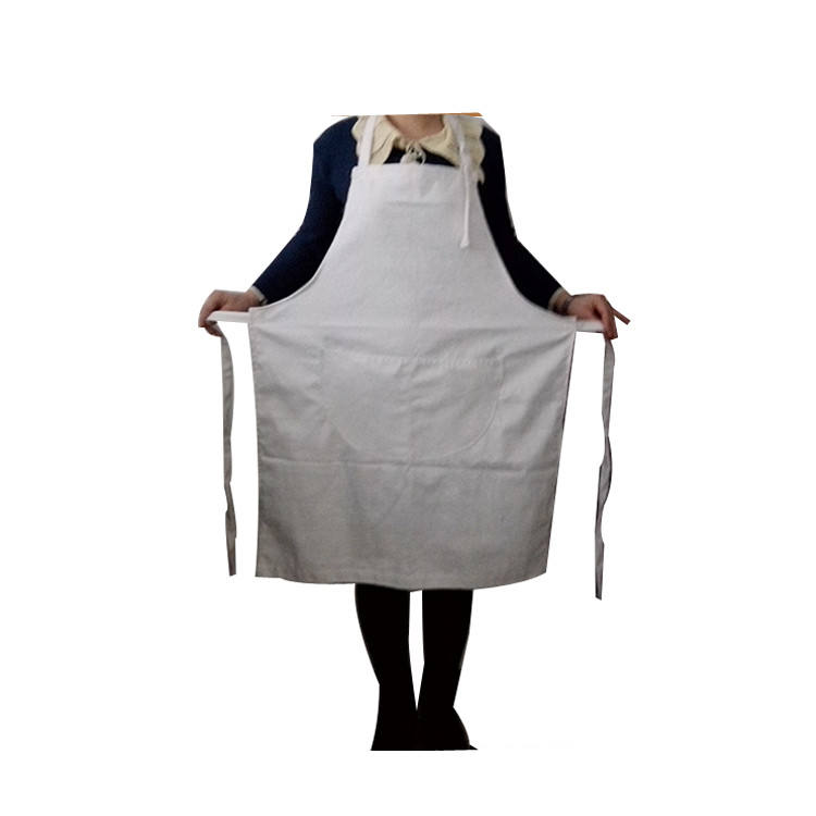 Custom Bakery Cotton Apron, Aprons kitchen cotton in White color chef kitchen cooking apron
