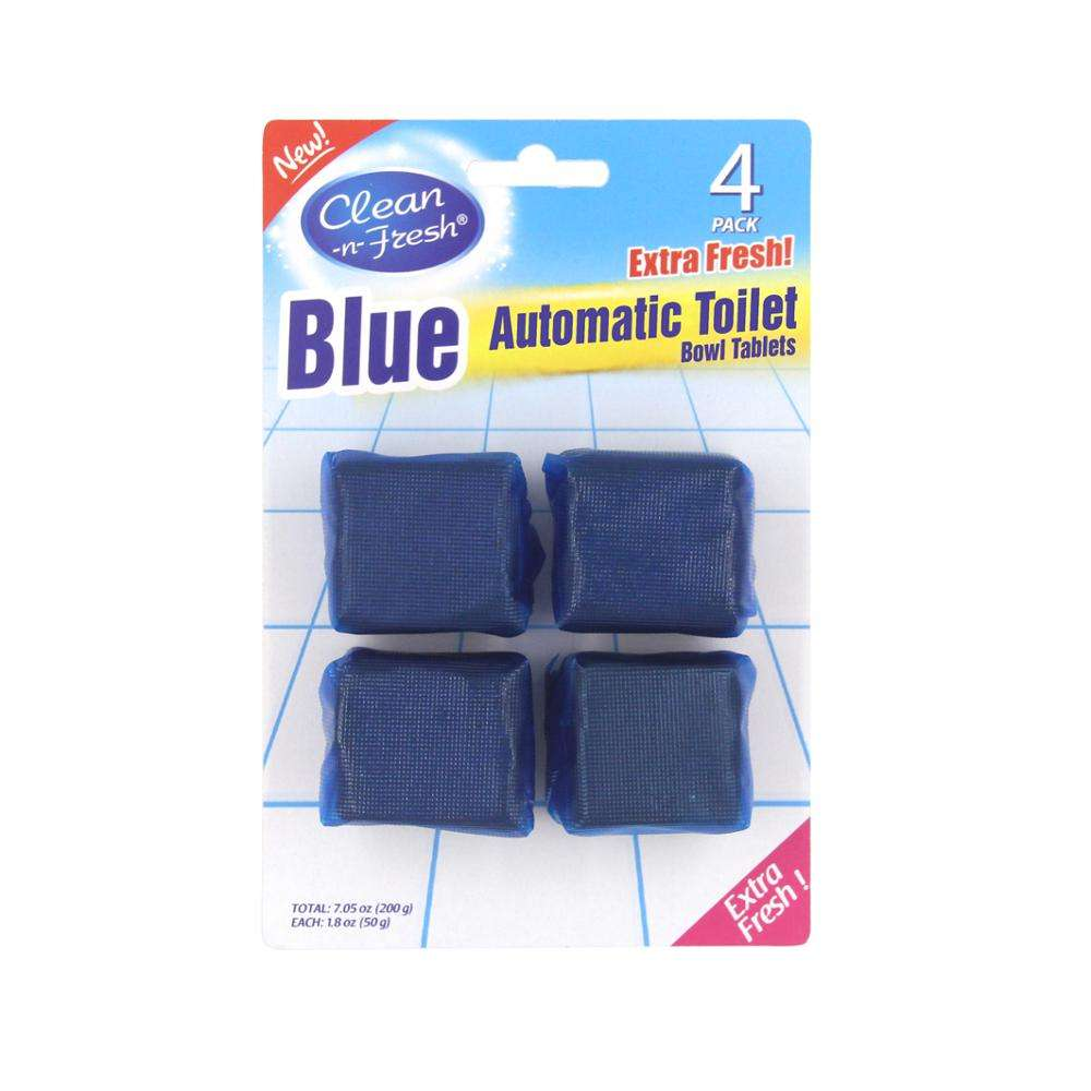 50g*4pk blue automatic toilet bowl tablets natural toilet tank bowl cleaner tablets