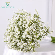 Coshinerose New Fashion Artificial Flowers White Blue Yellow Baby's breath tinted Gypsophila Wedding Bouquet