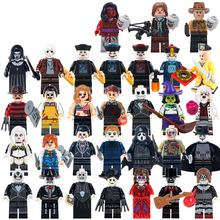 legoes Halloween  mini figures Scream Killer Horror Theme Ghost Figures Freddy Mask Hunter-Black  Building Blocks assembly Block