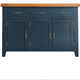 Rustic design for uk market oak wood multi colors 3 DOOR 2 DRAWER large SIDEBOARD