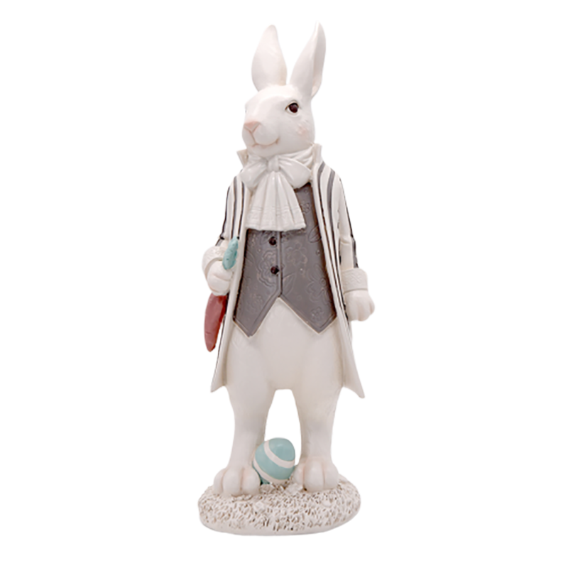 Scandinavian home decor resin easter bunny decorations for tabletop