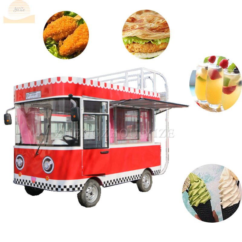 multi-functional electric food vending trailer cart food vending trailer cart tuk tuk street outdoor hotdog food cart
